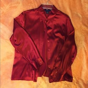 Red SILK Blouse